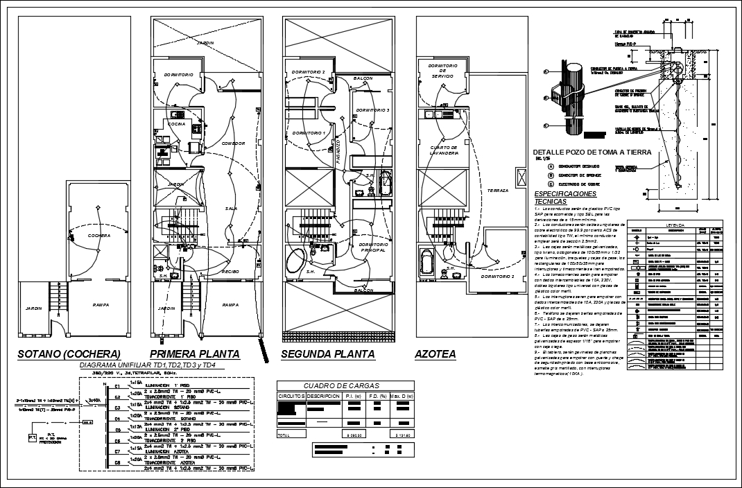 【CAD Details】Electrical Detaisl of house in autocad dwg