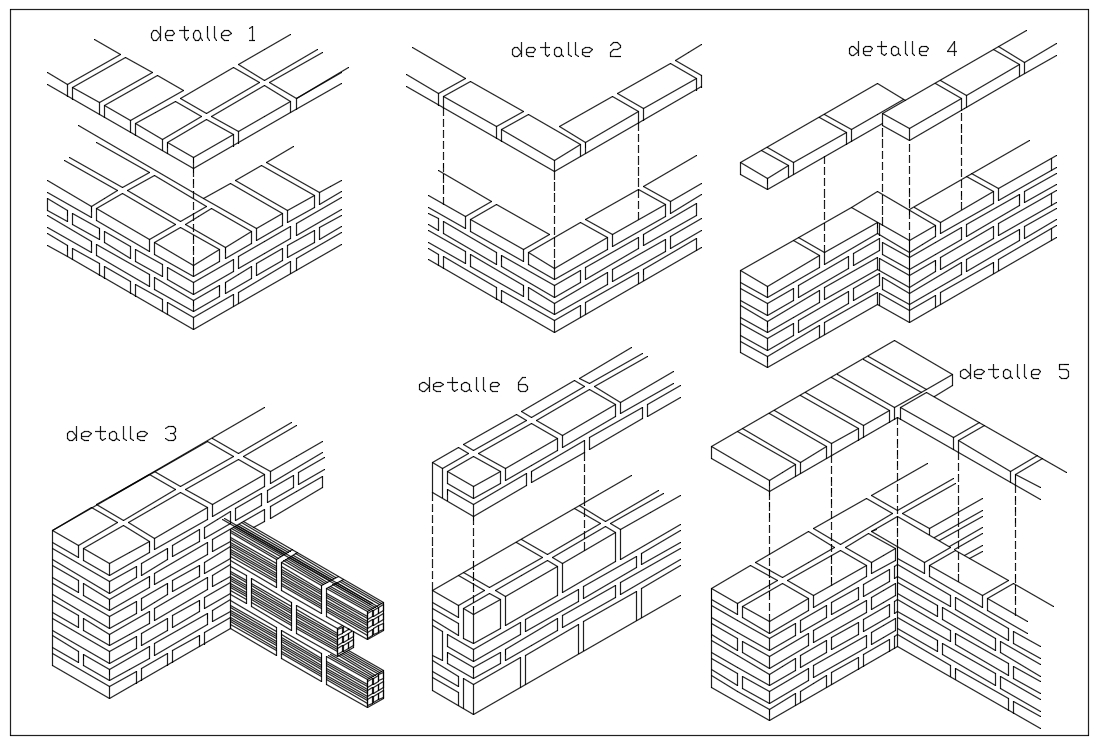 【CAD Details】Connection of Walls Joint with Isometric view