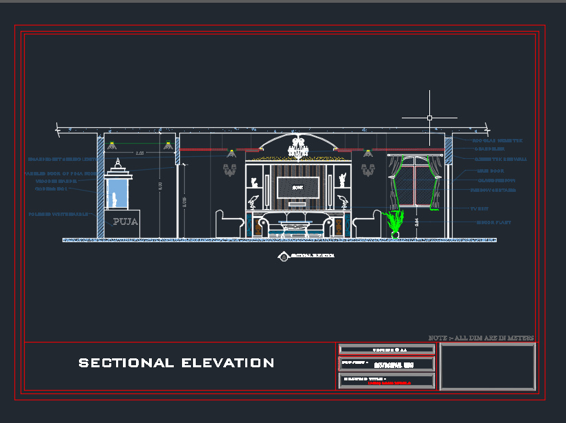 Living Room Interior Details Cad Files Dwg Files Plans And Details