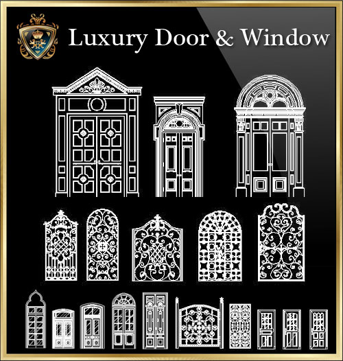 Luxury Door Amp Window CAD Files DWG Files Plans And