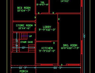 House Space Planning 30 X45 Ground Floor Plan Dwg Free