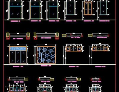 Window And Toilet Ventilator Plan And Elevations DWG Details Autocad DWG Plan N Design