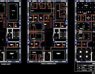Small Hospital Architecture Floor Plan Dwg File Autocad