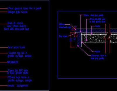 Wash Basin Counter Section Autocad DWG Plan N Design