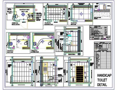 Handicap Toilet Detail  Autocad DWG  Plan n Design