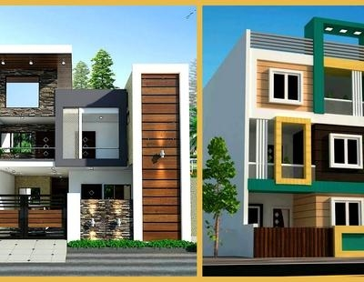 100 Most Beautiful Modern House Front Elevation Designs 3D Views   Front Staircase House Design   Residential   Outside   Front Jina   Home Front Valuation   Sitout