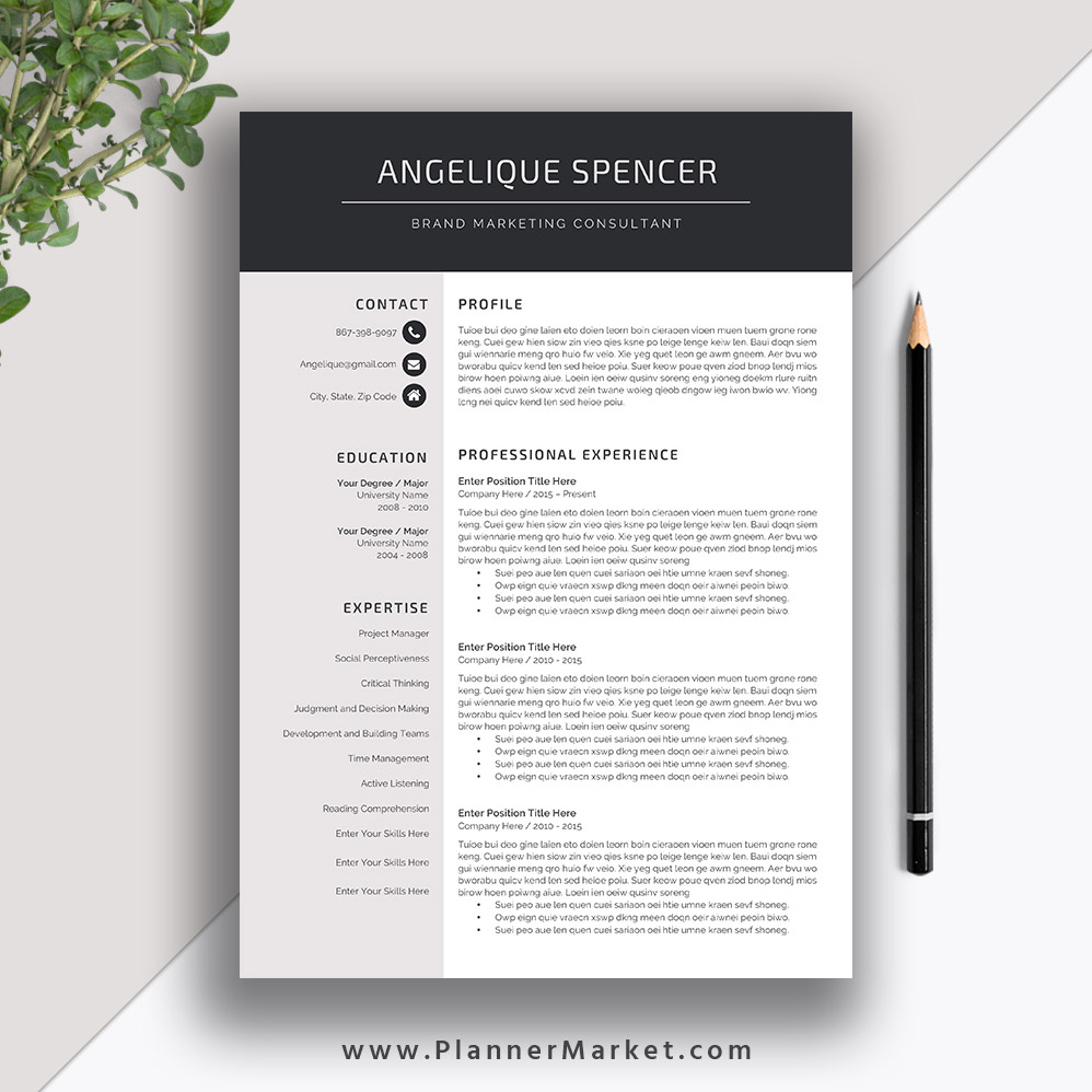 modern interview resume references