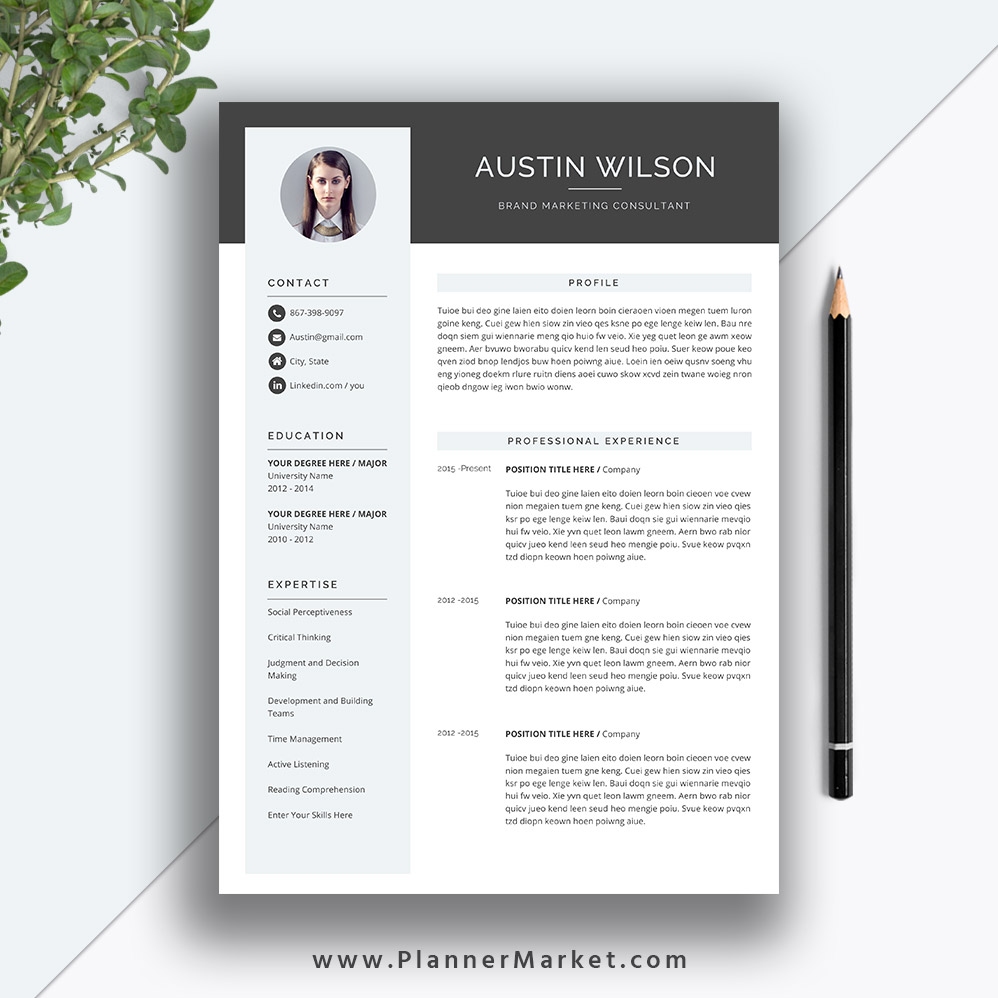 This Eye Catching Resume Template Helps You Get Noticed