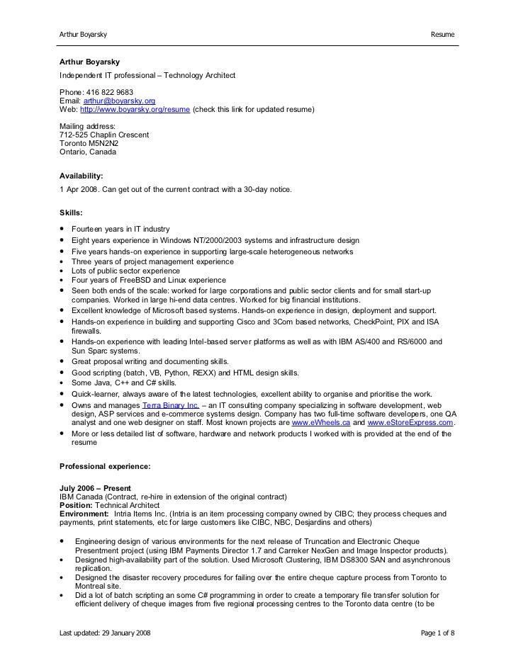 resume or cv canada