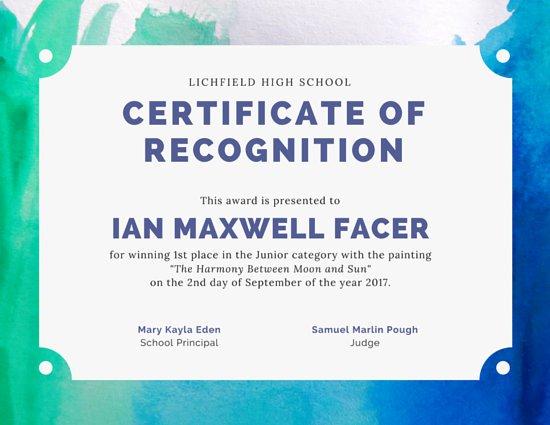 best player certificate