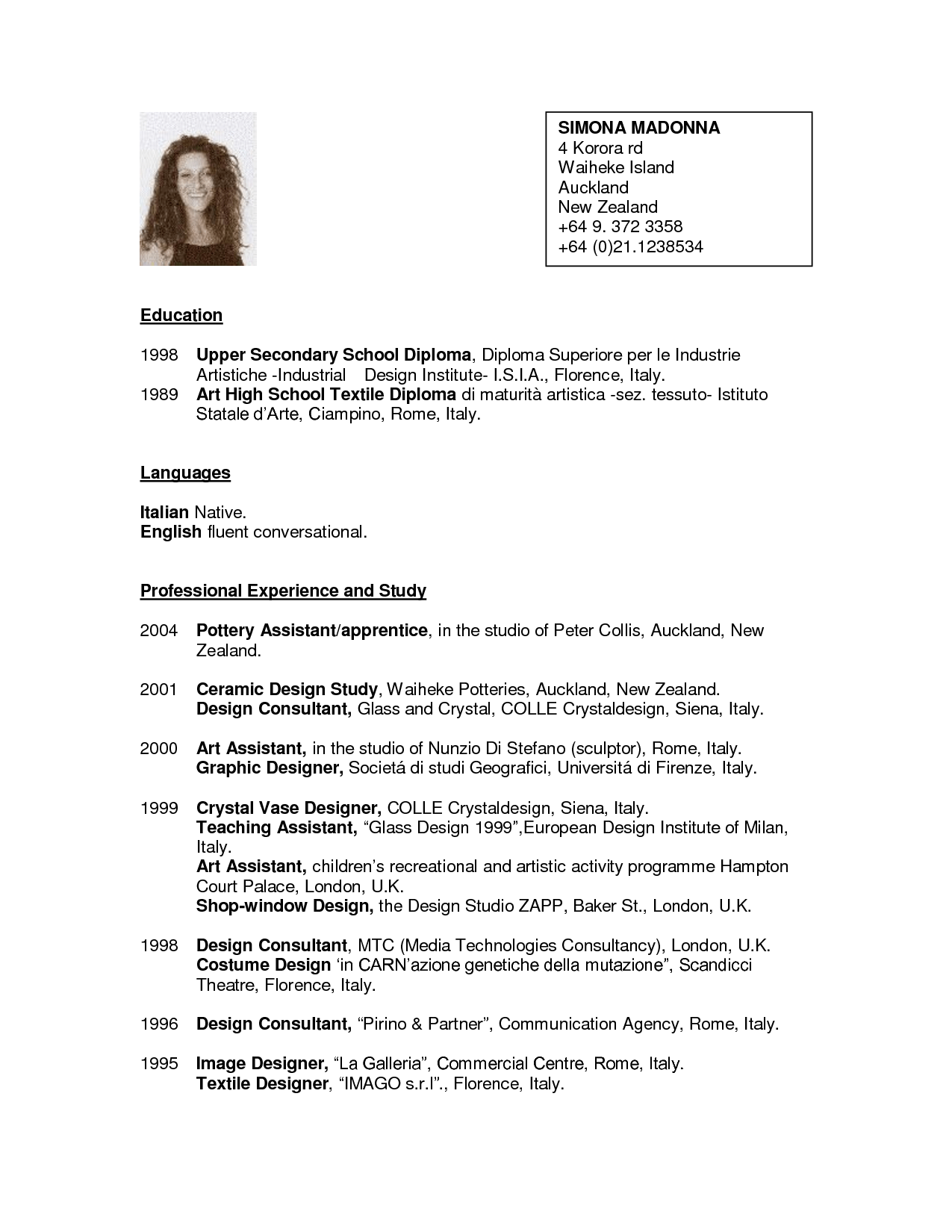 Cv Template Nz For Students Planner Template Free