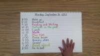 Daily Schedule For 6 Year Old  planner template free
