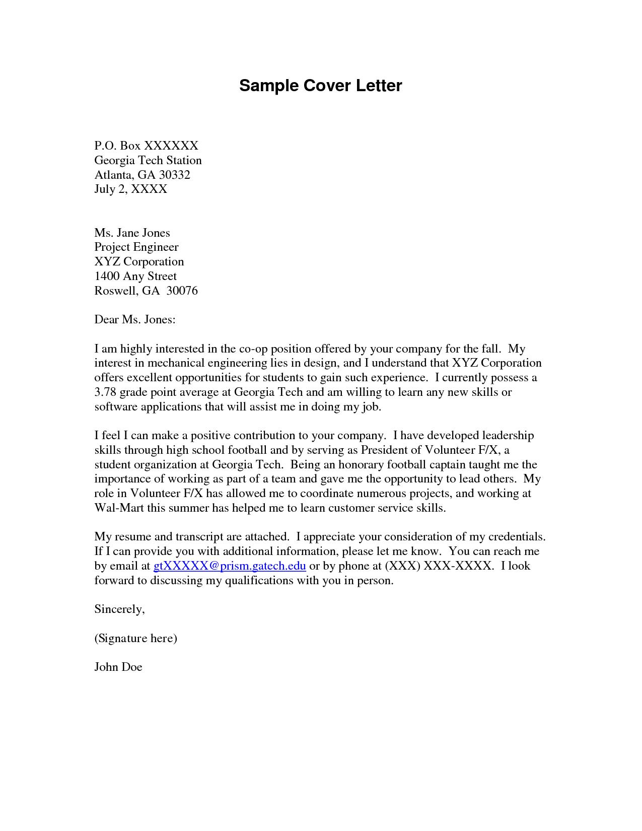 Volunteer Firefighter Cover Letter