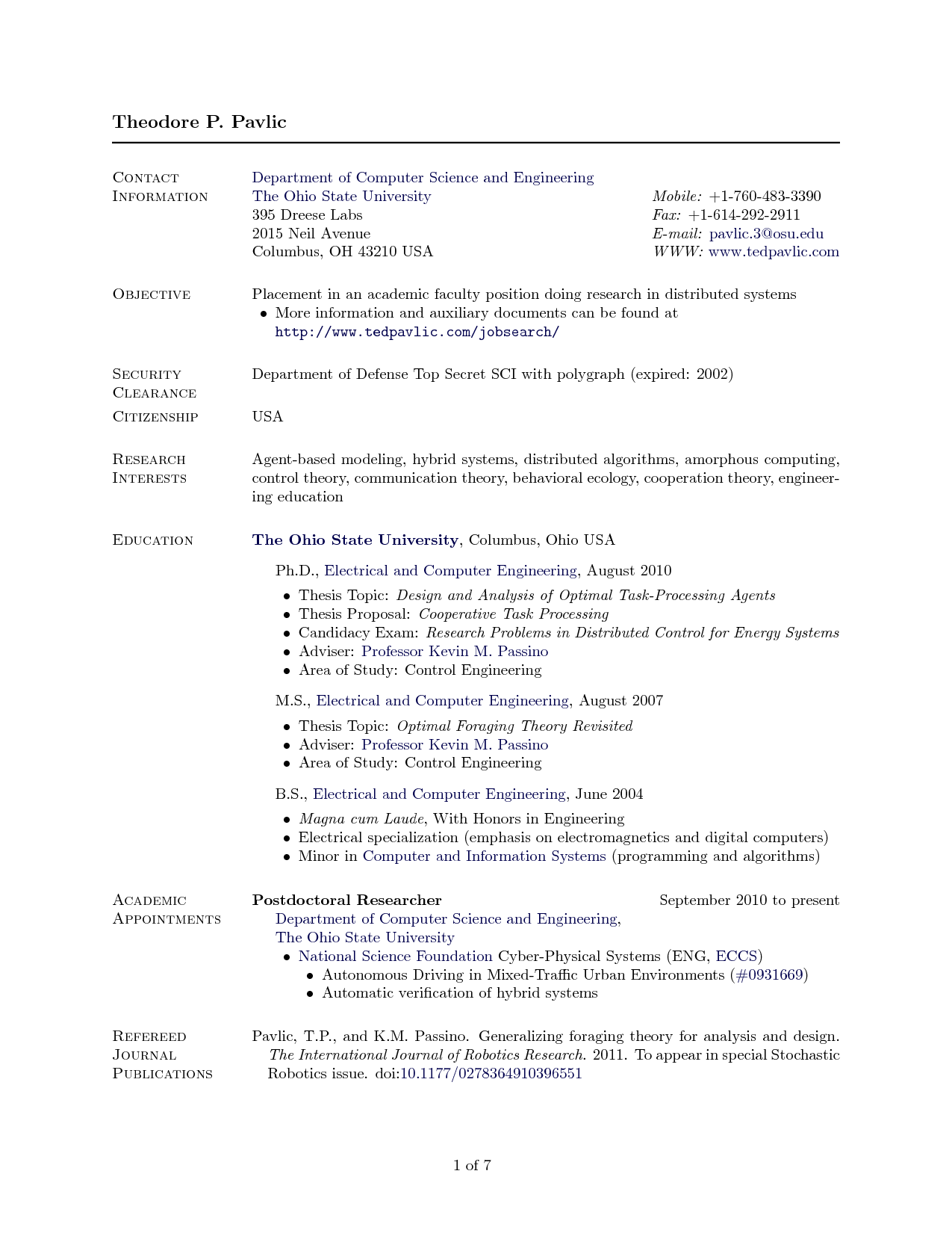 Latex Resume Template Computer Science Planner Template Free