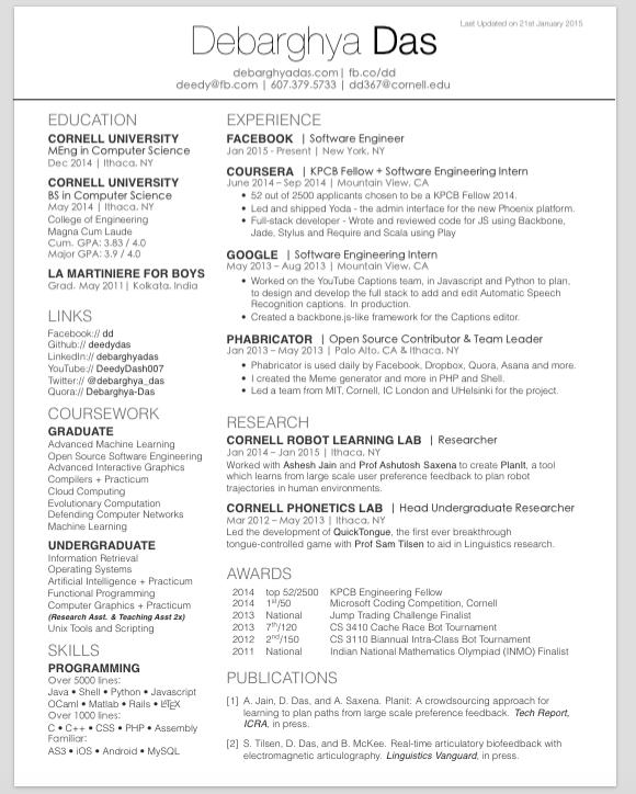 latex resume template github