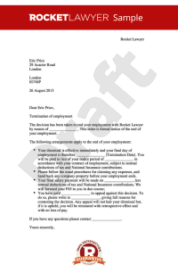 Redundancy Letter Template Uk | planner template free
