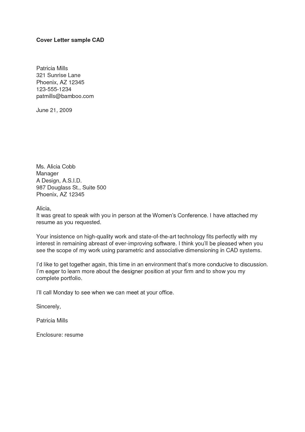 resume email sample format