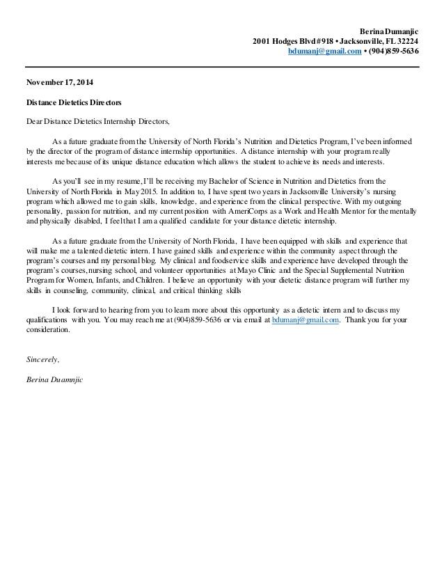 sample resume for nutrition student