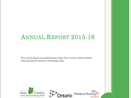 Annual Report 2015-2016 - Four County Labour Market Planning Board