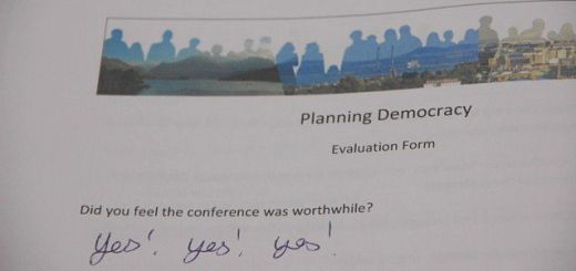 Conference evaluation sheet asking was it worthwhile? Answer: Yes! Yes! Yes!