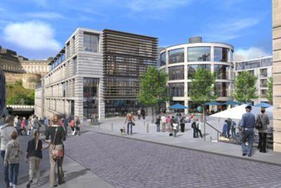 Artist's Impression of the Caltongate development: Allan Murray Architects