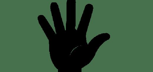 cartoon hand up
