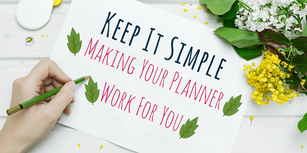 How to Keep Your Planner or Bullet Journal Simple. What fun is keeping a planner if it inhibits and frustrates you? Provides some tips and ideas to make your planner easy. Read to find out which tips work best for your planner or bullet journal and start simplifying today!