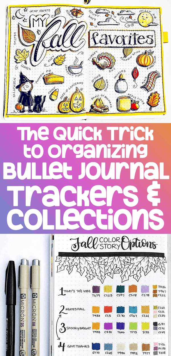 How to Organize Bullet Journal Trackers and Collections Easily and Quickly Pinterest Pin Number 2