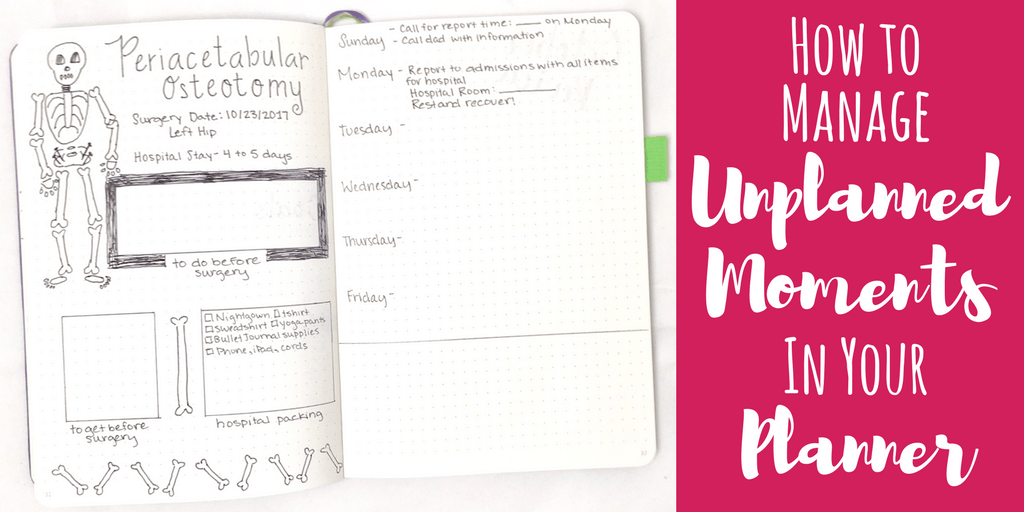 How to Manage Unplanned Moments in your Planner