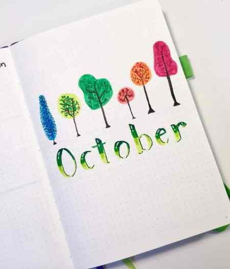 Calendar Cover Page Design : How to set up your bullet journal monthly layout