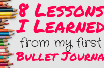 lessons learned bullet journal header
