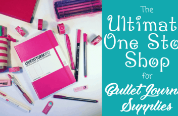 one stop shop bullet journal supplies header