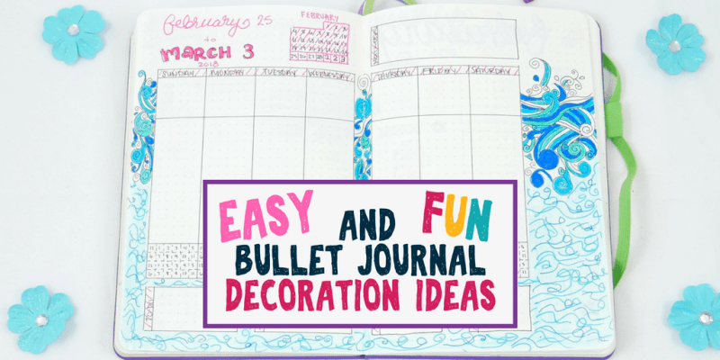 Ready to learn five different bullet journal decoration techniques that are fun, practical, AND save you tons of time and energy? Learn how different bullet journal supplies can make your life a lot easier so you can still enjoy decorating your bullet journal while not falling behind. #bulletjournal #diy #stationery #bujo #bulletjournalideas