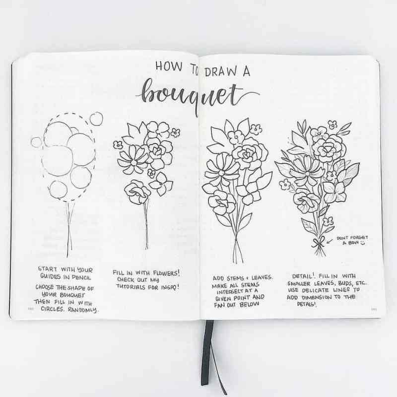 How to Draw Perfect Flower Doodles for Bullet Journal Spreads ...