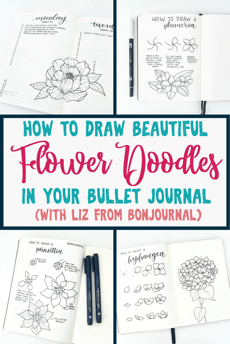 How to draw perfect flower doodles for bullet journal spreads flower doodles are beautiful and add creative flaire to literally any bullet journal thankfully my izmirmasajfo