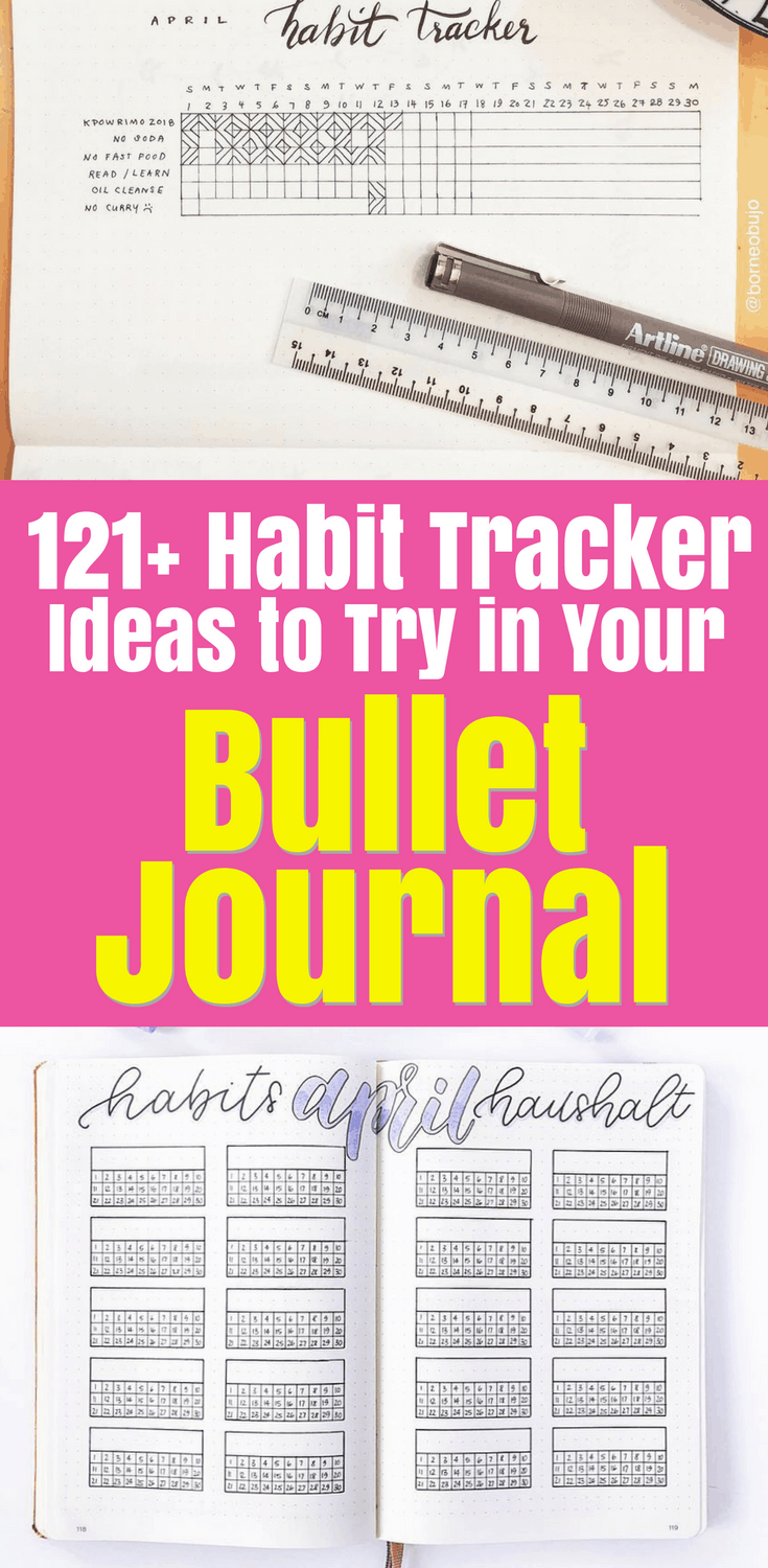 121+ Habit Tracker Ideas for Your Bullet Journal - Planning