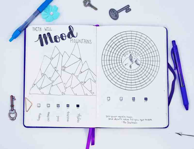 Ready for Planning Mindfully's Plan with Me July? This month is all about majestic mountains, including beautiful and minimalist planner doodle ideas. Learn how to create amazing minimalist bullet journal mountain themes to try. Fun planner and bullet journal inspiration.
