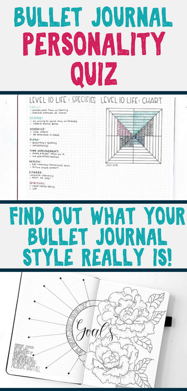 Take the bullet journal quiz and find out your bullet journal style today! Do you love tons of art, or are you a minimalist? Either way, get your results, and connect with other bullet journal accounts, blog posts, and stationery perfect for your style! #bulletjournal #bujoideas