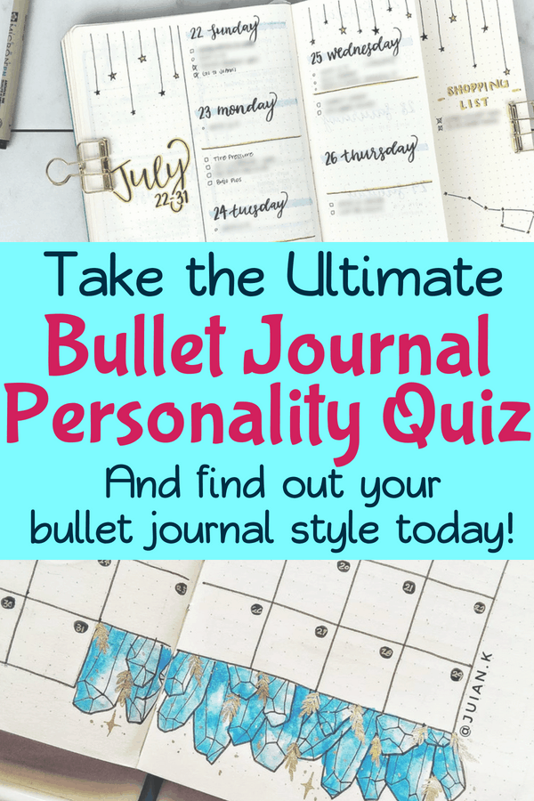 Bullet Journal Quiz: What's Your Bullet Journal Style