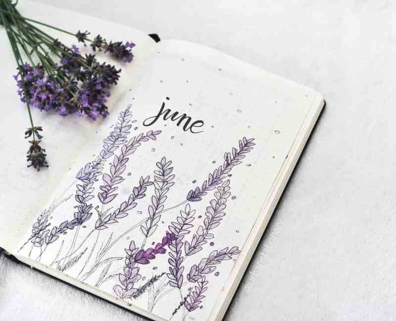 @urbanstationary created this gorgeous lavender piece This spread has been made very popular since AmandaRach created one a while back. I love getting to see different people replicate her spread, like this one here. I love the different shades of purple. The simple black lettering is a perfect balance to the drawing. #bulletjournal