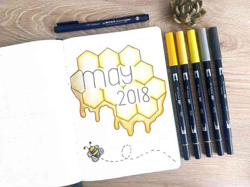 I adore this bee themed cover page by @bluenittany I'm always a sucker for unique cover pages, like this epic one from my friend Ashlyn. She has a beautiful eye for detail. Further down, you'll get to see even more of her amazing work!