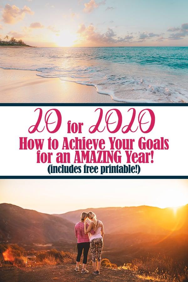 20 for 2020 goal Pinterest image
