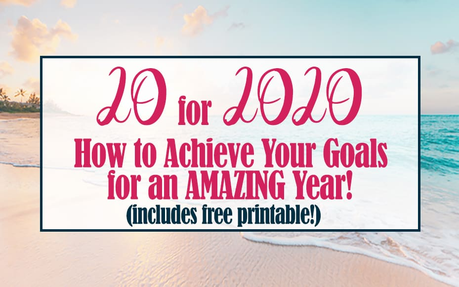 photo about Come Inside It's Fun Inside Free Printable named 20 for 2020: Attain Your Plans for an Outstanding Yr (With