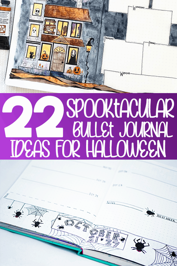 22 Spooktacular bullet journal ideas for halloween bullet journal pin
