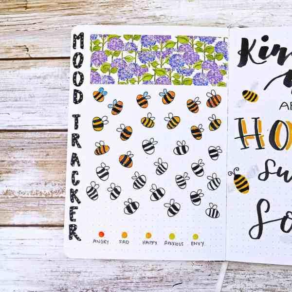 Bee doodle mood tracker