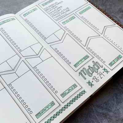 Mint to do list format weekly layout for bullet journal