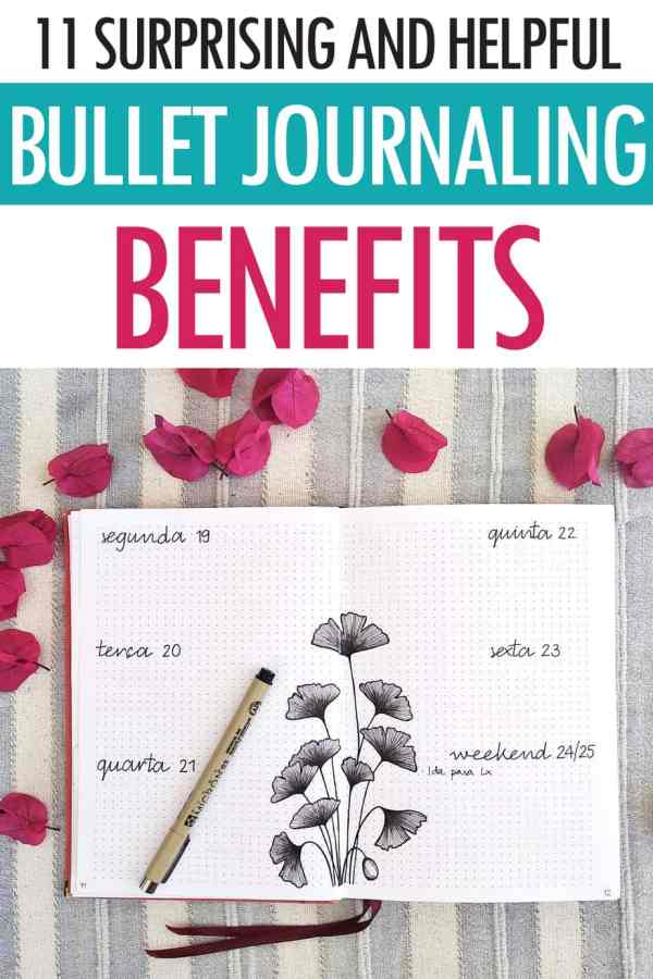 Bullet journal benefits pinterest image 1