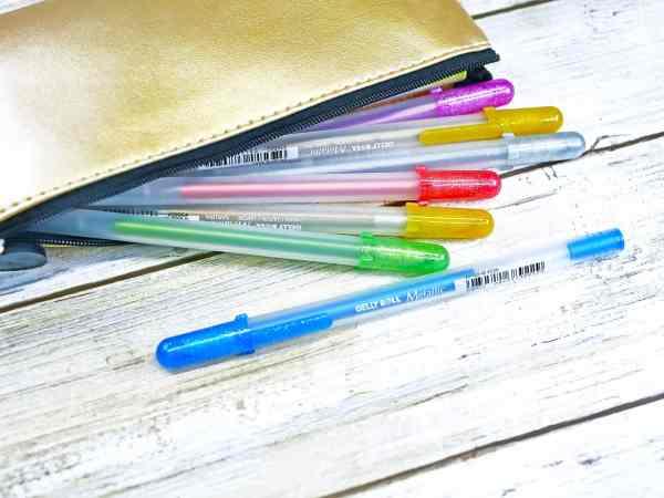 bullet journal sakura gelly pens gel