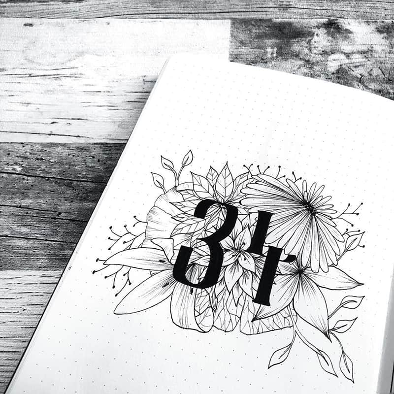 Floral cover page ideas