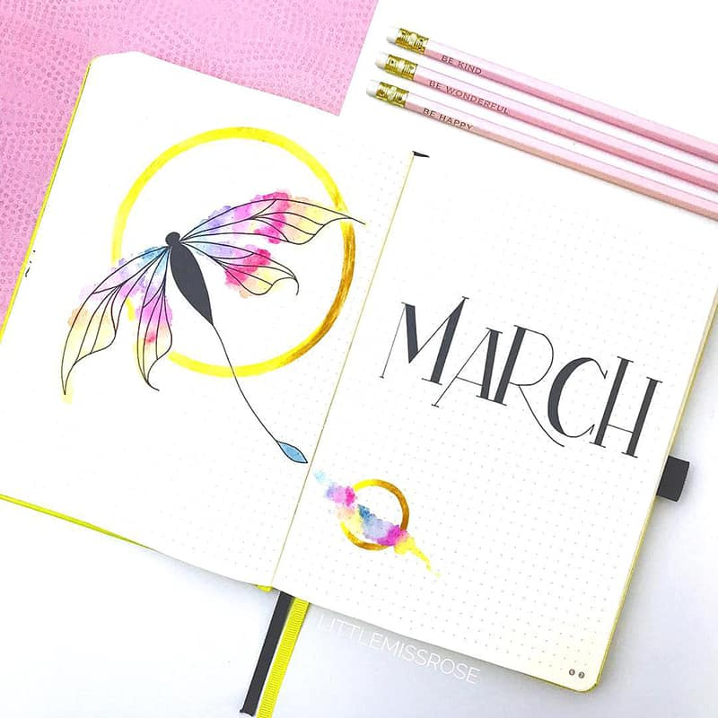 Dragon bullet journal theme idea